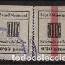 Sellos: FONTFREDA DE TER, 5 Y 50 CTS,.- SEGELL MUNICIPAL- VER FOTO. Lote 237634560