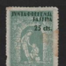 Sellos: TARRAGONA, 25 CTS, JUNTA DEFENSA PASIVA,- VER FOTPO. Lote 237635640