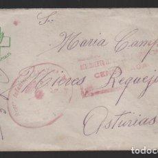 Sellos: SOBRE CIRCULADO REGT. ZARAGOZA Nº 30- FRENTE Y HOSPITALES.- VER FOTO. Lote 237636335