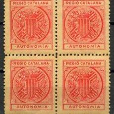 Timbres: VIÑETA POLÍTICA, REGIÓ CATALANA, AUTONOMIA, (4). Lote 237840590