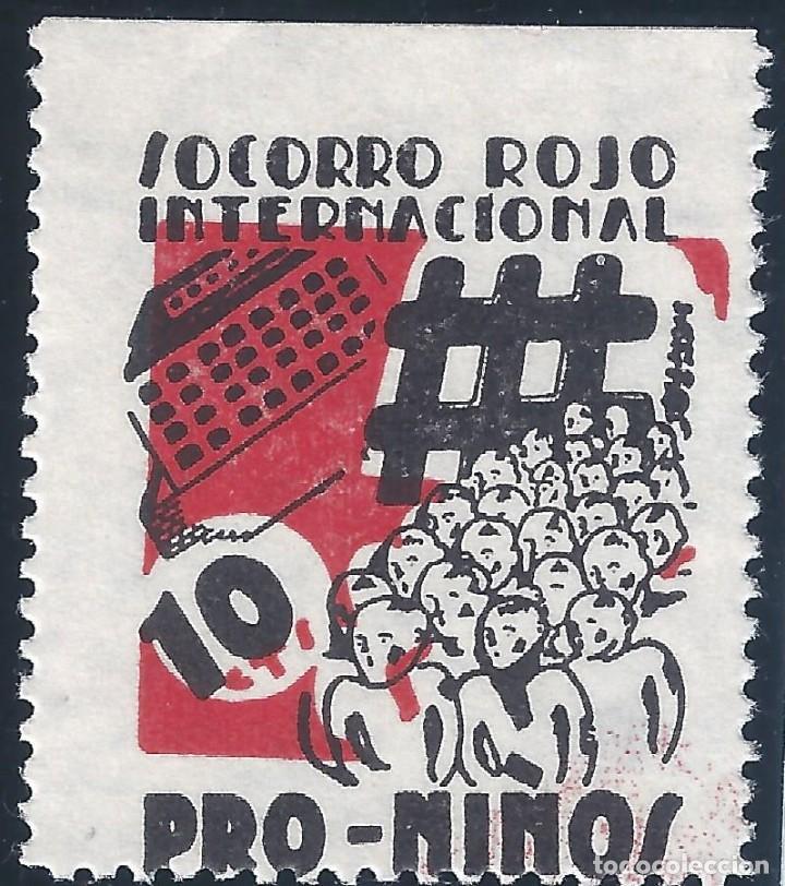 SOCORRO ROJO INTERNACIONAL. PRO-NIÑOS. MUY ESCASO. LUJO. MNG. (Sellos - España - Guerra Civil - Viñetas - Nuevos)