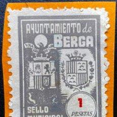 Sellos: SELLO MUNICIPAL 1 PTS AYUNTAMIENTO DE BERGA. Lote 238794935