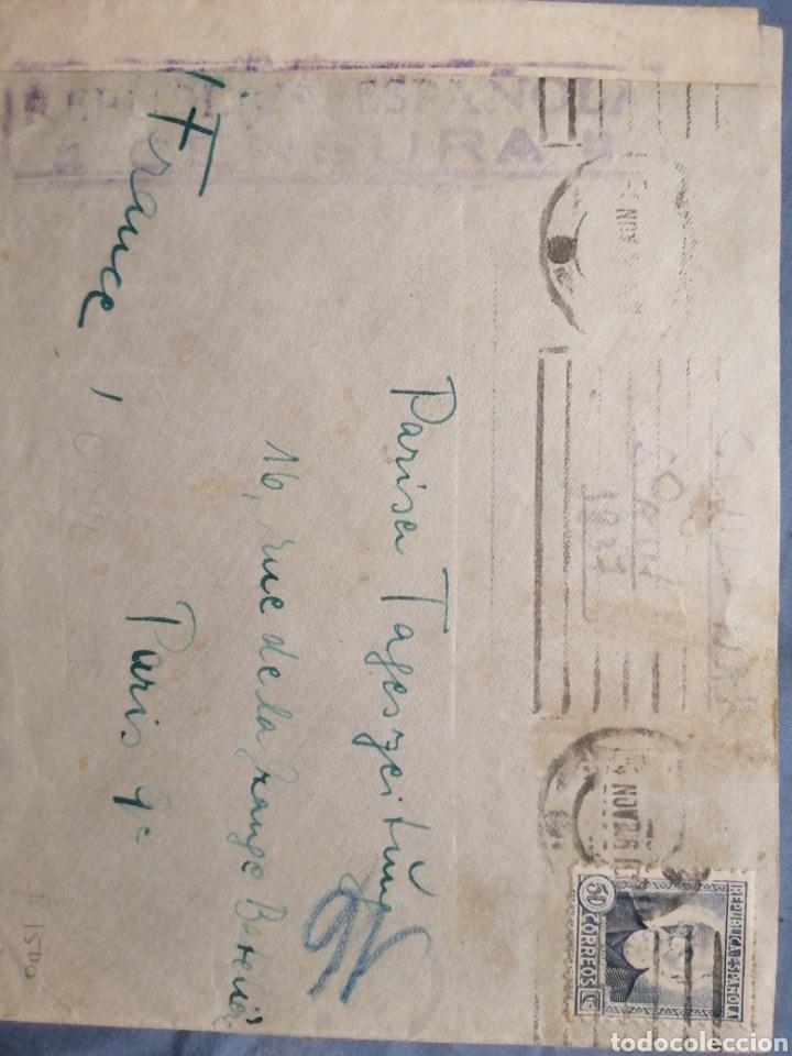 CENSURA MILITAR ESPAÑOLA GUERRA CIVIL 1937 (REPÚBLICA) (Sellos - España - Guerra Civil - De 1.936 a 1.939 - Cartas)