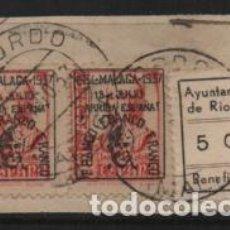 Sellos: RIOGORDO- 5 CTS, VARIEDAD AYUNTAMIEN TO -SEPARADO- SOBRE FRAGMENTO. VER FOTO. Lote 239578740