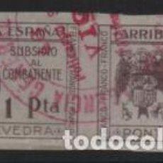 Sellos: PONTEVEDRA,- 1 PTA, SIN DENTAR. PAREJA, VER FOTO. Lote 239580905