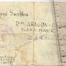 Sellos: 1936 DICIEMBRE BELCHITE CARTA LLENA DE HUMOR DE JUAN FRADE A JOSÉ SANTISTEVE EN ZARAGOZA. Lote 239716535