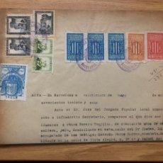 Sellos: GENERALITAT FISCALES EN DOCUMENTO BARCELONA 1938. Lote 239839060
