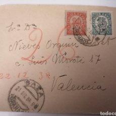 Sellos: BAZA. GRANADA. FRONTAL DE CARTA. DIRIGIDA A VALENCIA. 1938. GUERRA CIVIL, ZONA REPUBLICANA. Lote 240334920