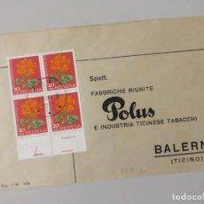 Sellos: POLUS INDUSTRIA TABAQUERA DE TICINO, VIÑETA TABACO.. Lote 240550415