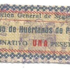 Francobolli: DIRECCIÓN GENERAL DE SEGURIDAD. COLEGIO DE HUÉRFANOS DE LA POLOCIA. DONATIVO UNA PESETA. Lote 241035945