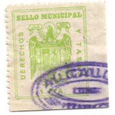 Francobolli: SELLO MUNICIPAL. DERECHOS Y TASAS, 1 PTA. Lote 241036875