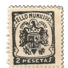 Francobolli: SELLO MUNICIPAL. SONSECA 2 PESETA PAREJA. Lote 241037615