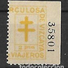 Sellos: FISCAL VIZCAYA - BILBAO . PAÍS VASCO / EUSKADI. Lote 241121260