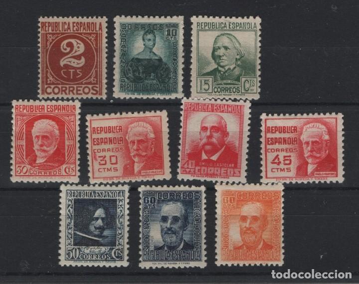 R78.G4 / CIFRAS Y PERSONAJES, CAT. 42€, 1936/38, EDF. 731/40, NUEVOS** S/F (Sellos - España - Guerra Civil - De 1.936 a 1.939 - Nuevos)