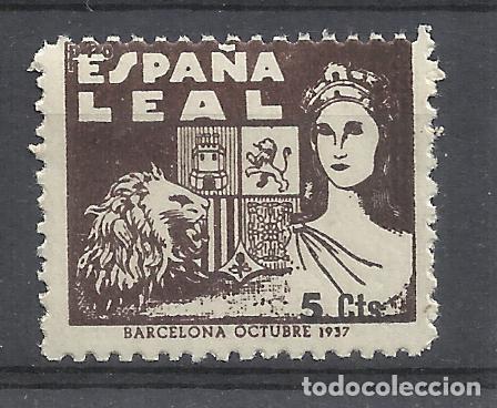 ESPAÑA LEAL 1937 BARCELONA 5 CTS NUEVO* (Sellos - España - Guerra Civil - Viñetas - Nuevos)