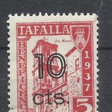 Sellos: TAFALLA 1937 NAVARRA 5 CTS NUEVO** BENEFICENCIA SOBRECARGA 10 CTS. Lote 242956700