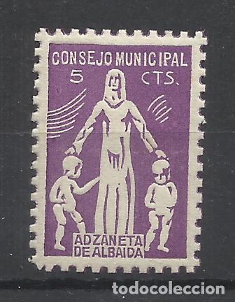 CONSEJO MUNICIPAL ADZANETA DE ALBAIBA 5 CTS NUEVO* (Sellos - España - Guerra Civil - Locales - Nuevos)