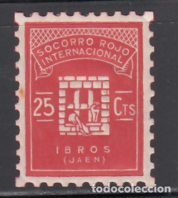 SOCORRO ROJO INTERNACIONAL. IBROS. JAÉN. 25 C. ROJO (AL.2) (Sellos - España - Guerra Civil - Viñetas - Nuevos)