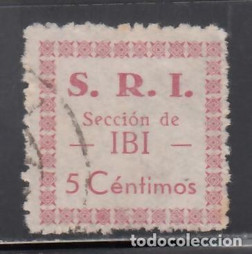 S.R.I. SOCORRO ROJO INTERNACIONAL. IBI ALICANTE 5 C. ROJO (AL.1) (Sellos - España - Guerra Civil - Viñetas - Nuevos)