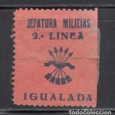 Sellos: JEFATURA MILICIANAS. 2º LINEA. IGUALADA. BARCELONA. (AL.1.). Lote 243058755