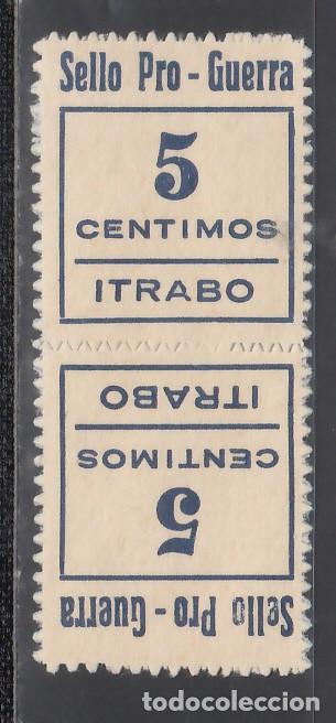 SELLO PRO-GUERRA. ÍTRABO. GRANADA. 5 C AZUL. (AL.1.), PAREJA CAPICUA. (Sellos - España - Guerra Civil - Viñetas - Nuevos)