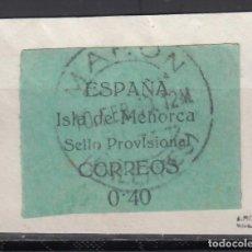 Sellos: SELLOS PROVISIONALES, MENORCA, BALEARES. 1939 EDIFIL Nº 1. Lote 243241205