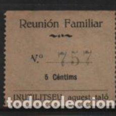 Sellos: REUNIO FAMILIAR INSTRUCTIVA, CONSUMACIO, 5 CTS,.- VER FOTO. Lote 243278175