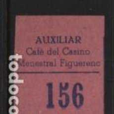 Sellos: AUXILIAR CAFE DEL CASINO.- MENESTRAL FIGUERENC. 30 CTS,- VER FOTO. Lote 243278860