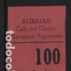 Sellos: AUXILIAR CAFE DEL CASINO.- MENESTRAL FIGUERENC. 20 CTS,- VER FOTO. Lote 243278945