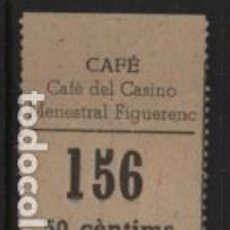 Sellos: AUXILIAR CAFE DEL CASINO.- MENESTRAL FIGUERENC. 50 CTS,- VER FOTO. Lote 243279075