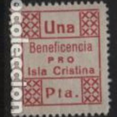 Sellos: ISLA CRISTINA.- HUELVA- 1 PTA- BENEFICENCIA.- VER FOTO. Lote 243282040