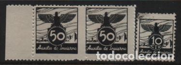VIÑETAS.- AUXILIO DE INVIERNO- VER FOTO (Sellos - España - Guerra Civil - Locales - Usados)
