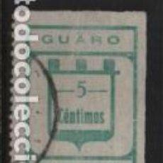 Sellos: GUARO-MALAGA- 5 CTS. CARIDAD, VER FOTO. Lote 243337465