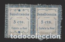 CAÑETE LA REAL. 5 CTS.-PAREJA CON DOS TIPOS- VER FOTO (Sellos - España - Guerra Civil - Locales - Nuevos)