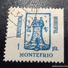 Sellos: MONTEFRÍO (GRANADA). EDIFIL 12 *. 1 PTAN AZUL BENEFICENCIA MUNCIPAL.. Lote 243809635