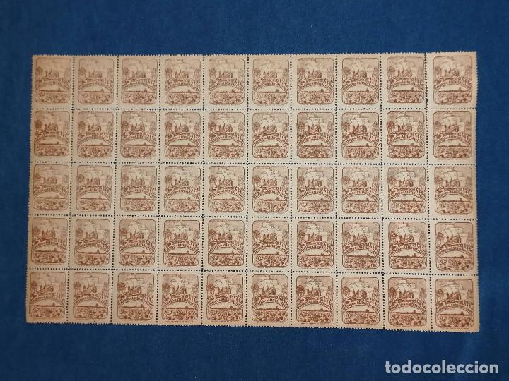Sellos: España lote sellos Guerra Civil Asturias Leon, Pliego de 50 sellos nuevo *** Edifil 6 Paper gris - Foto 2 - 243925630