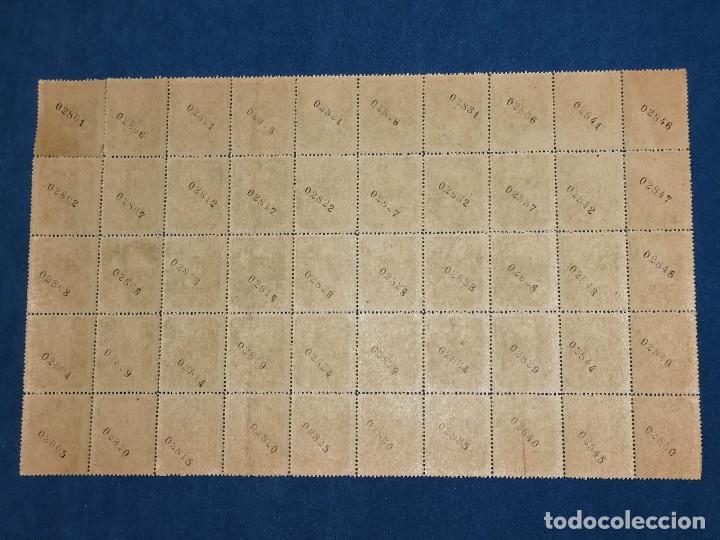 Sellos: España lote sellos Guerra Civil Asturias Leon, Pliego de 50 sellos nuevo *** Edifil 6 Paper gris - Foto 4 - 243925630
