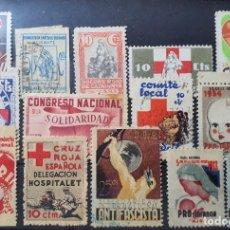 Sellos: GUERRA CIVIL. LOTE DE VIÑETAS SEGÚN FOTO. Lote 244193305