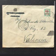 Sellos: GUERRA CIVIL - XIV CUERPO DE EJERCITO - 17 DIC 1938 - CARTA - SELLO - VALENCIA. Lote 244380710