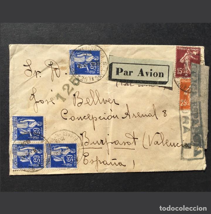GUERRA CIVIL - REPUBLICA ESPAÑOLA - CENSURA - 1938 - CARTA - SELLO - VALENCIA (Sellos - España - Guerra Civil - De 1.936 a 1.939 - Cartas)