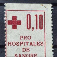 Sellos: GUERRA CIVIL. JUVENTUD LIBERTARIA - PRO HOSPITALES DE SANGRE AFINET 795 RARA. Lote 244400560