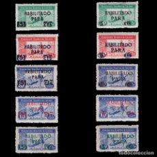 Sellos: BENEFICENCIA.1946.HUÉRFANOS CORREOS.SOBRECARGA.SERIE.MNH EDIFIL.102-111. Lote 244606020
