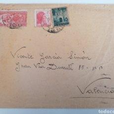 Sellos: CARTA A VALENCIA. 1937?. DIRIGIDA A GRAN VIA DURRUTI.. Lote 244638290