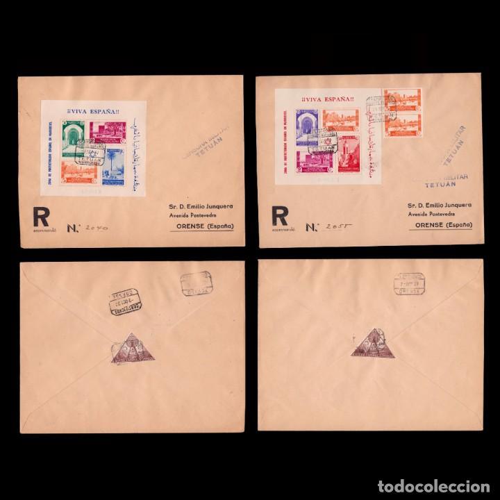 MARRUECOS 1937.TIPOS EN HOJITAS SOBRE CARTAS.EDIFIL.167-168 (Sellos - España - Guerra Civil - De 1.936 a 1.939 - Cartas)