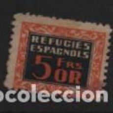 Sellos: VIÑETA,- 5 FRS. OR. REFUGIES ESPAGÑOLS, VER FOTO. Lote 244674580