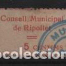 Sellos: RIPOLLET, 5 CTS,- CONSELL MUNICIPAL- VER FOTO. Lote 244675020