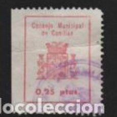 Sellos: CANILLAS,- MADRID.- 25 CTS- CONSEJO MUNICIPAL,- VER FOTO. Lote 244680535