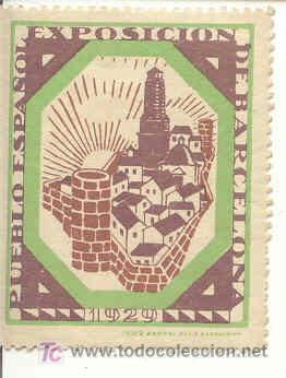 BONITA VIÑETA DE LA EXPO-INTERNACIONAL DE BARCELONA 1929 (Sellos - España - Guerra Civil - Viñetas - Usados)