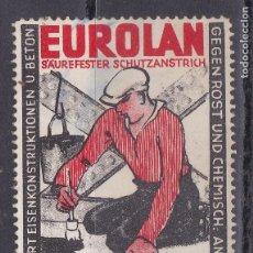 Sellos: SS19- VIÑETA ANTIGUA EUROLAN AISLANTES 42 X 56 MM. Lote 244921795