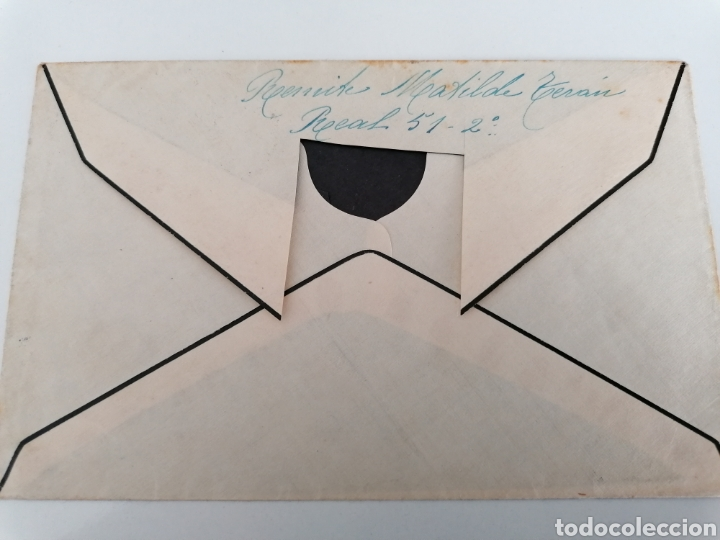 Sellos: LA CORUÑA A CHAPARRAL GRANADA. REGIMIENTO INFANTERIA LEPANTO 5. 9º BATALLÓN. 1938. CENSURA - Foto 2 - 244931670